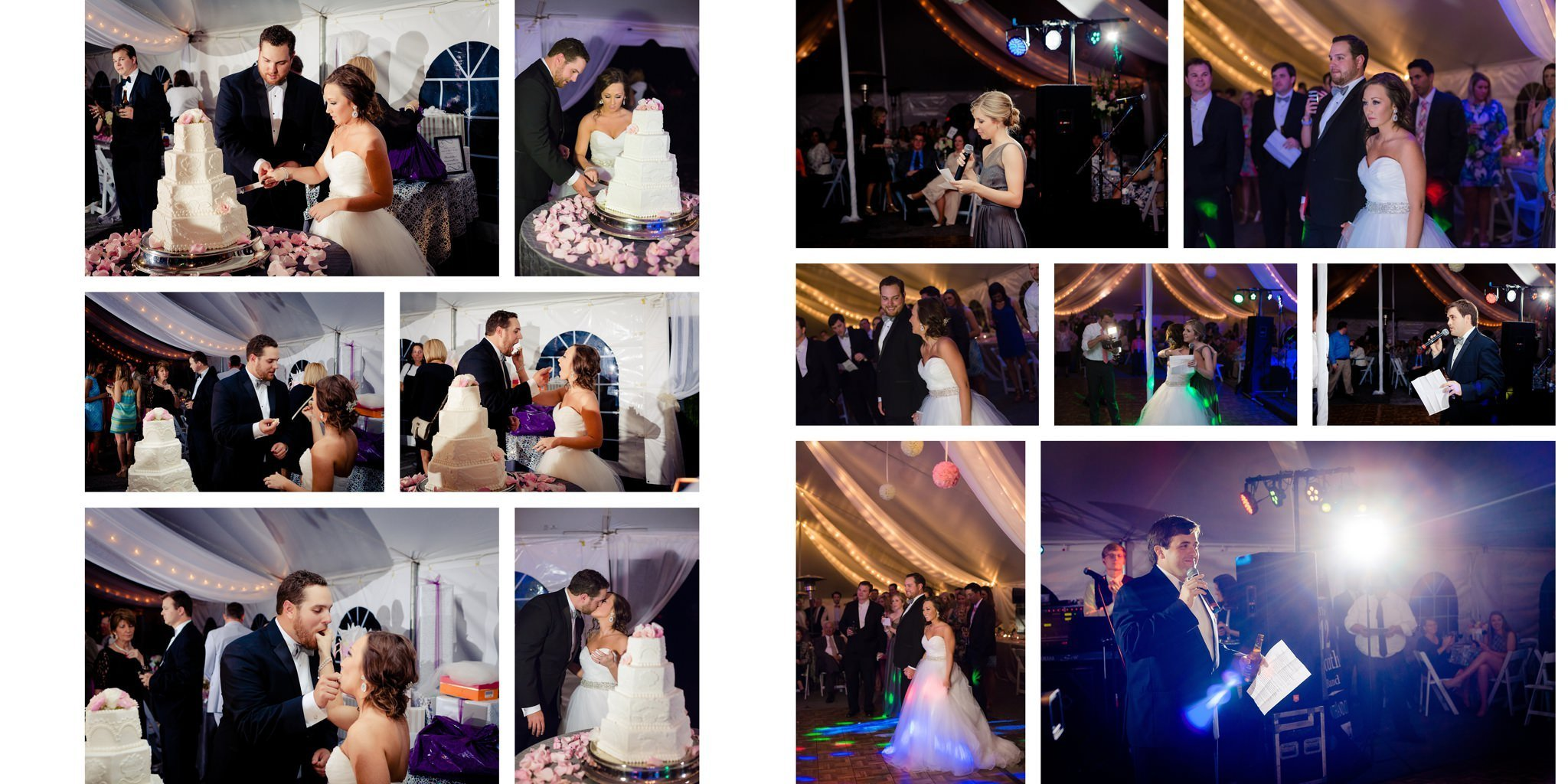 The Antle Wedding Album Layout